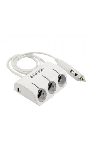 3 Port + 2 USB Kfz Adapter