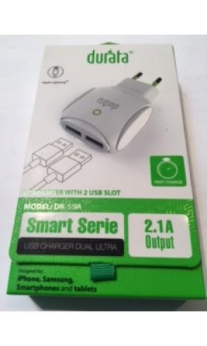 Durata Dual Micro USB Ladekabel,Ladestecker 2.1A
