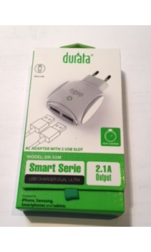 Durata Dual Ultra Apple Ladekabel, Ladestecker USB 2.1A Iphone 5, 6, 7